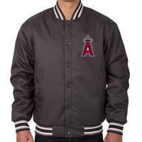 【SALE】 JHデザイン LA ロサンゼル ANGELS エンゼルス スタジャン GENUINE MERCHANDISE グレー ワンポイント MLB メジャーリーグ