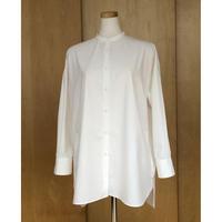 スタンドカラーシャツ / ホワイト