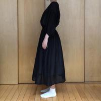コットンシルクワンピース lily / ブラック