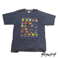 90s S/S print tee 『tropical fish』