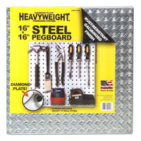 "HEAVYWEIGHT Steel Pegboard 16""×16"""