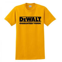 DEWALT Guaranteed Tough Tシャツ yellow