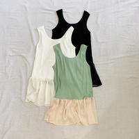 Rib × Sheer Tanktop