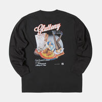 GLUTTONY  LONG T-shirt【BLACK】