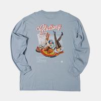 GLUTTONY  LONG T-shirt【DUSTY BLUE】