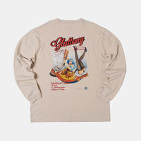 GLUTTONY  LONG T-shirt【BEIIGE】
