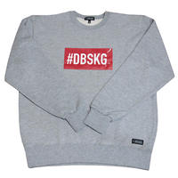 DBSKG BOX-LOGO LIGHT CREW SWEAT GRAY