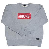 DBSKG BOX-LOGO LIGHT CREW SWEAT GRAY