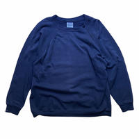 90s Hanes raglan crewneck sweat / size XXL / made in USA / color:black