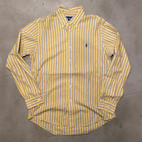 "Polo Ralph Lauren ""CUSTOM FIT"" stripe B.D L/S shirts / size M"