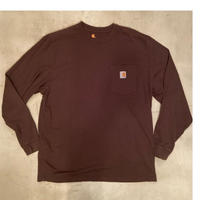 """""""Carhartt"""" long sleeve t-shirts / size L / color:brown"""