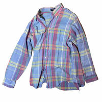 """Land's end """"B.D check shirt""""  / size L / made in USA"""
