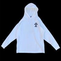 "DEAL STORE originals ""NO CHERRY NO DEAL"" long sleeve hoodie t-shirt / color:white"