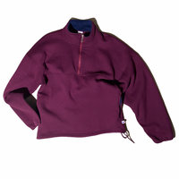 """Russell Athletic"" half zip pullover sweat / size L / made in USA / color:maroon"