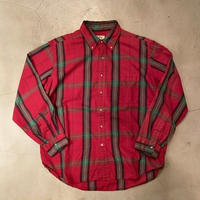 "L.L.Bean ""flannel B.D L/S shirts"" / size XL / made in USA"