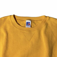 """""""Russell"""" plain crewneck sweat / size L / color:yellow"""