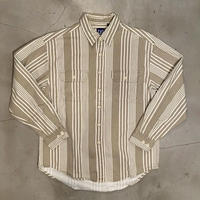 "90s GAP ""stripe L/S shirts"" / size L"
