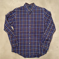 "Polo Ralph Lauren ""CUSTUM FIT"" check B.D shirts / size L"