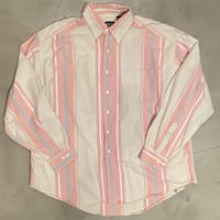 "90s GAP ""stripe B.D L/S shirts / size XL"