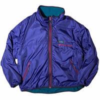 """""""L.L.Bean"""" packable w face(nylon & fleece)  jacket / size L"""