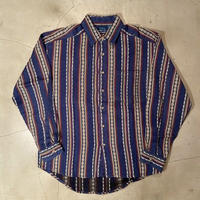 Whole pattern L/S shirts / size M