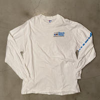 """90s Hanes beefy long sleeve t-shirt """"Track time"""" / size XXL / made in USA"""
