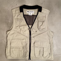 "Columbia ""fishing vest"" / size M / color:cream"