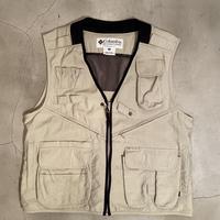 "Columbia ""fishing vest"" / size M / color:cream"