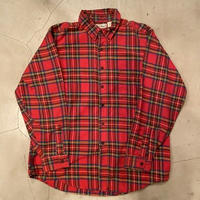 "L.L.bean "" flannel B.D check shirts"" / size L  / made in USA"