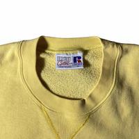 """Russell"" high cotton crewneck sweat / size M / color:lemon yellow"