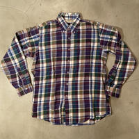 "L.L.Bean "" flannel B.D L/S shirts"" / size M / made in USA"