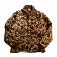 """""""KEY IMPERIAL"""" duck camo quilting jacket / size L / made in USA"""