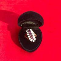 vintage stone ring#R025