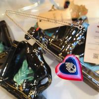 vintage heart necklace #Z3
