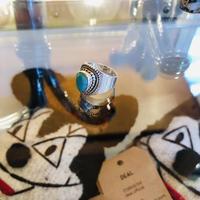 vintage stone ring #ER009