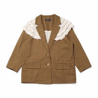 baby back  jacket / olive × milk