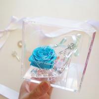 """《名入れギフト☆メッセージ刻印》message ROSE """"BLUE KEY"""" 小さなシンデレラのガラスの靴"""