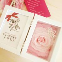 "MEMORIES ""gradation pink"" お花入りフォトフレーム"
