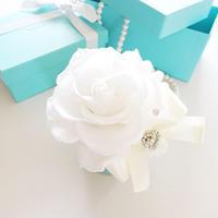 "Design Flower  ""Petit Tiffany flower"" ティファニーブルーの上品アレンジ"