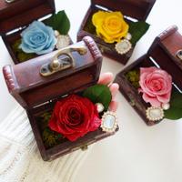 "Design Flower ""colorful trunk"" 選べる4Color!カラフルなバラの小さな贈り物"
