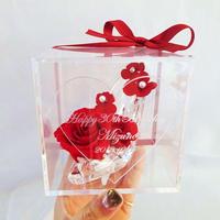 """《名入れギフト☆メッセージ刻印》message ROSE    """"REINE"""" 小さなシンデレラのガラスの靴"""