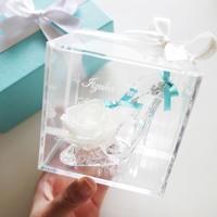 """《名入れギフト☆メッセージ刻印》message ROSE """"WHITE KEY"""" 小さなシンデレラのガラスの靴"""