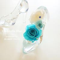 "Cinderella ""Cinderella Blue"" お花で彩ったシンデレラのガラスの靴"