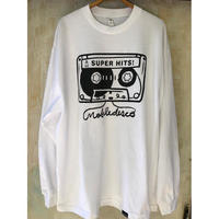 (T-shirts) mobiledisco TAPE L / S Tee -L - / XL-