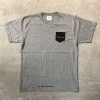 Pocket Print T shirt 18013 C/# GRAY
