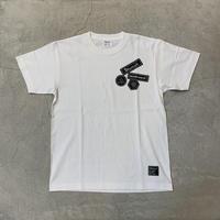 D19007《Wappen Print Tshirt》 C/# WHITE