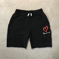 D18015《Paintdamage Sweat Shorts》C/# BLACK