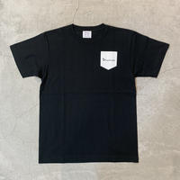 D19012《Pocket Print T shirt》C/# BLACK