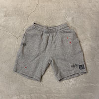 Paintdamage Sweat Shorts 19009 C/# GRAY