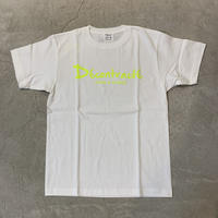 Basic Tshirts 17012 C/# WHT×NEON YELLOW